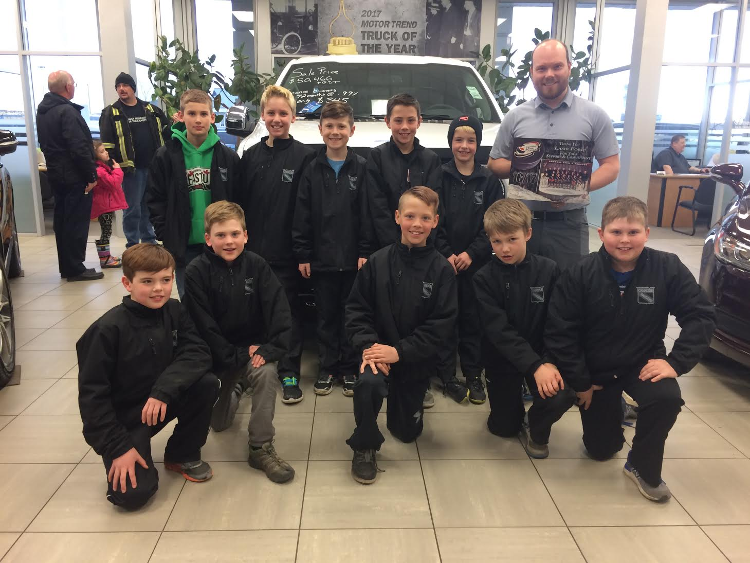 Thank you to Lamb Ford for Sponsoring the Atom A Rangers - 2017