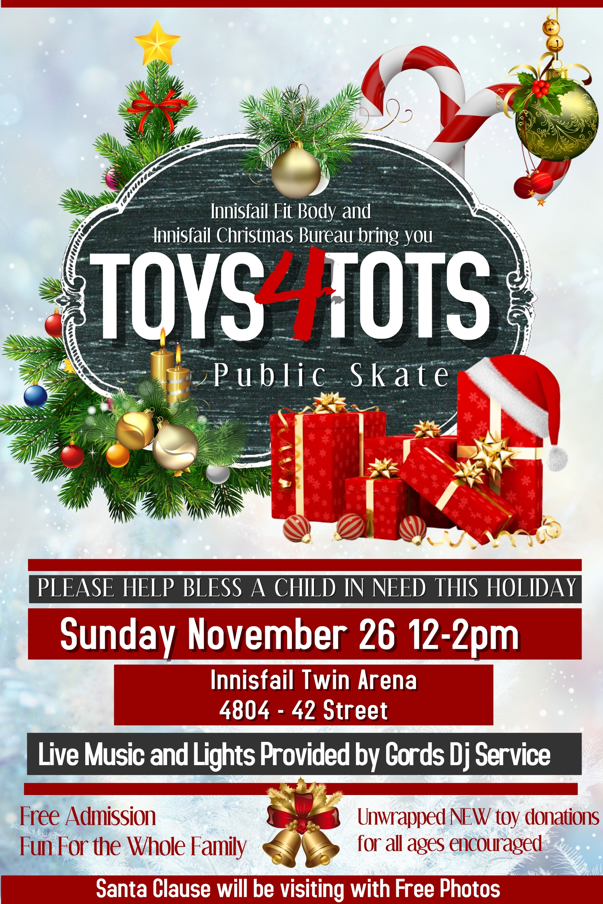 Toys 4 Tots Posters : Innisfail minor hockey association website by ramp