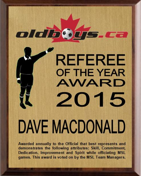Referee of the Year Award