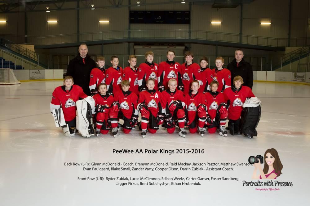 Peewee AA Team 2015-16