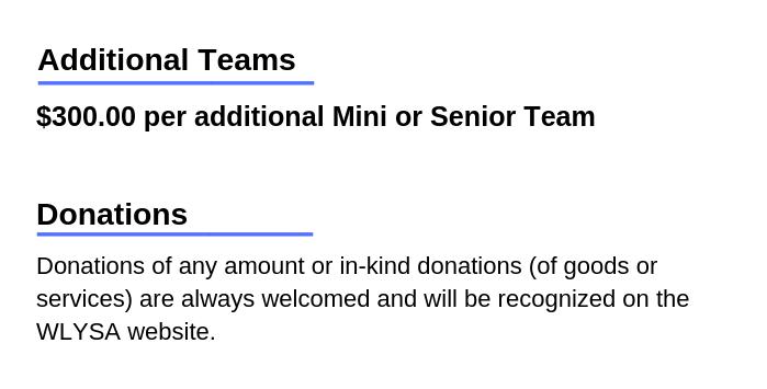 Additional Sponsorships