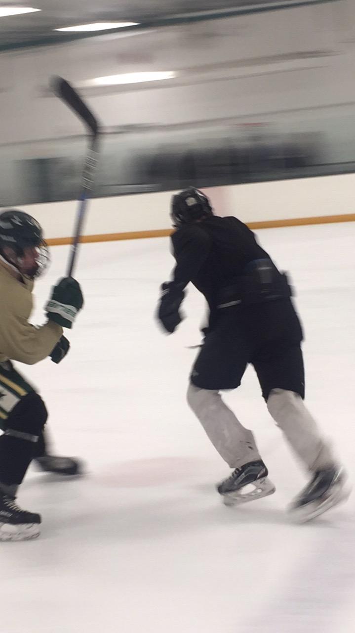 Midget hockey practice
