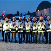 Timberwolves Give Back....Handed out over 350 flyers for the Spruce Grove Kinettes