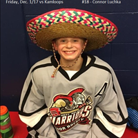 Player of the Game vs Kamloops Dec. 1/17 - #18 Connor Luchka