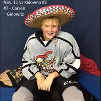 Player of the Game vs Kelowna #2 Nov. 11  - #7 Carsen Gelowitz