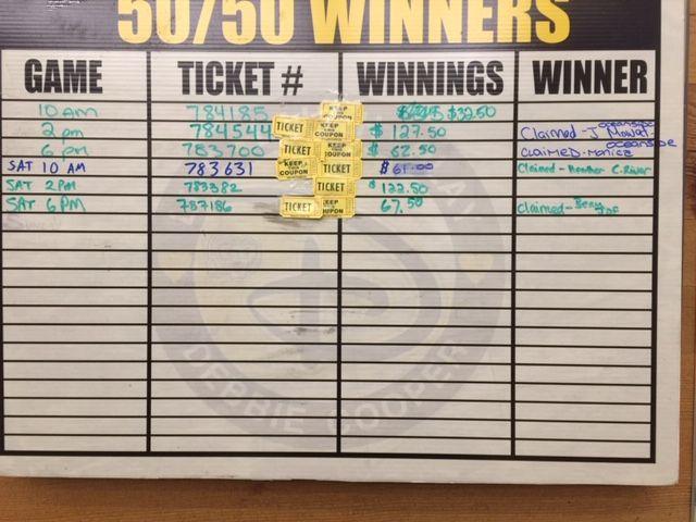 Bricklok 50 50 Tickets