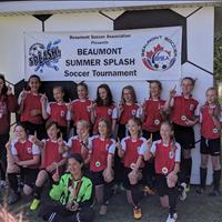U13 Girls got Gold at Beaumont summer splash tournament