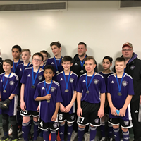 Ardrossan FC U15 Boys at FC Memorial Challenge Tournament, won Silver.