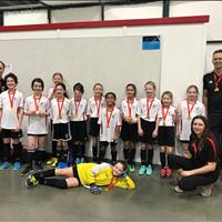 U11 Girls at FC Memorial Challenge won Gold.