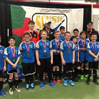 Ardrossan U13 Boys Tier 5 got GOLD from Slush Cup Tournament