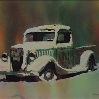 Eric's Old Truck, Watercolor, 11x14