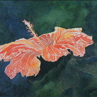 Dancing On The Leaves, Watercolor, 11x14