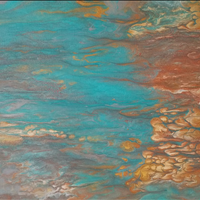 Blue Fire, Acrylic, can be hung 3 ways, rental/buy program, contact artrental@northvanarts.ca