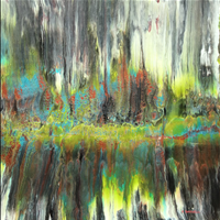 Pondscape, Acrylic, Federation of Canadian Artists, Limitless Online Show  artists.ca