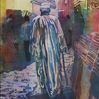 The Market, Watercolor, Surrey Art Gallery, SAGA Art Rental/Purchase, 604 501 5566