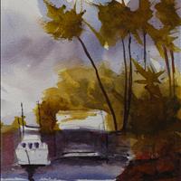 Still Waiting, Watercolor, Surrey Art Gallery SAGA Rental/Purchase 604 501 5566