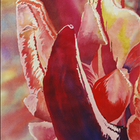 Exploding, Watercolor, 22x15, Surrey Art Gallery,  SAGA Art Rental/Purchase,   604 501 5566