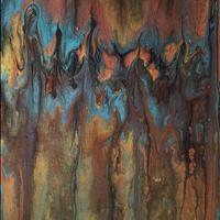 Pillaring Lava, Acrylic, 10x8