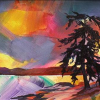 Gabriola Wild, Acrylic, 12x16