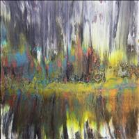 Pondscape, Acrylic, 24x24