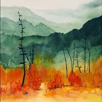 Jasper's Autumn, Watercolor, collection of Johanna Mramor
