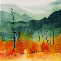 Jaspers Autumn, Watercolor, collector Johanna Mramor