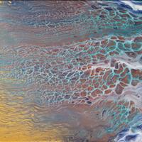 Flowing, Acrylic