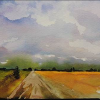 Tashas Field, Watercolor
