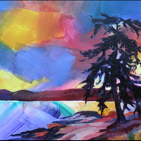 Gabriola Wild, Acrylic, collection of Jim Mills