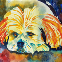 Maggie, Watercolor, Collection of Erin Nathanielsen