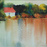 The Teich Haus, Watercolor