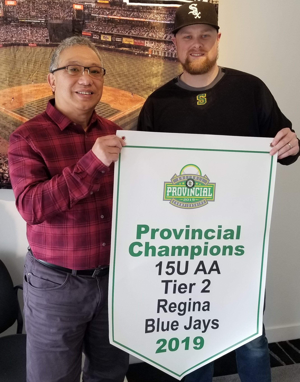 2019 15U AA Tier 2 Provincial Champions Regina Blue Jays
