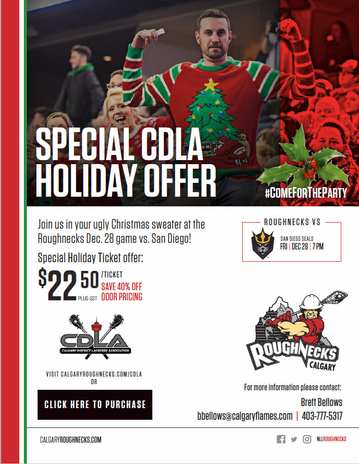 Roughnecks CDLA Christmas Offer