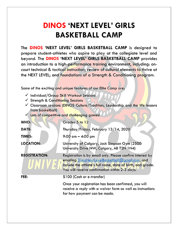 Dinos Girls Bball Camp