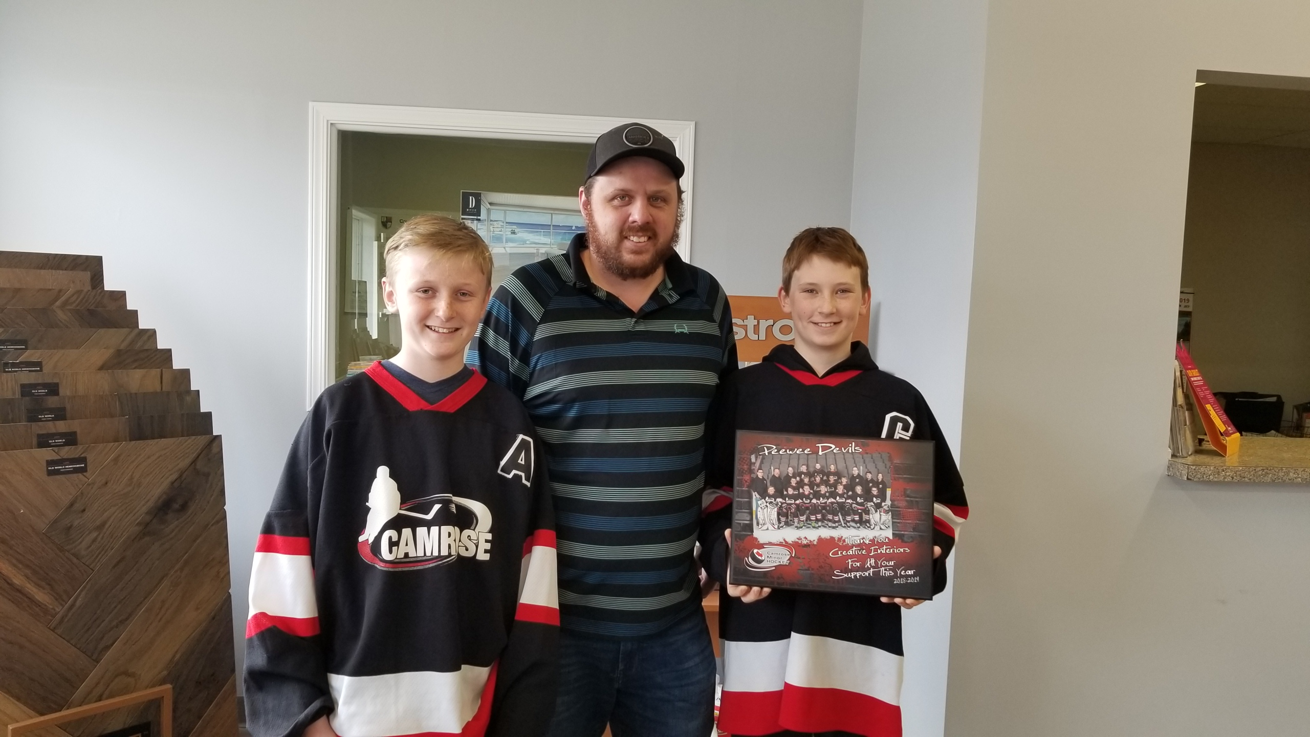 Thank you to Creative Interiors for sponsoring the Peewee Devils