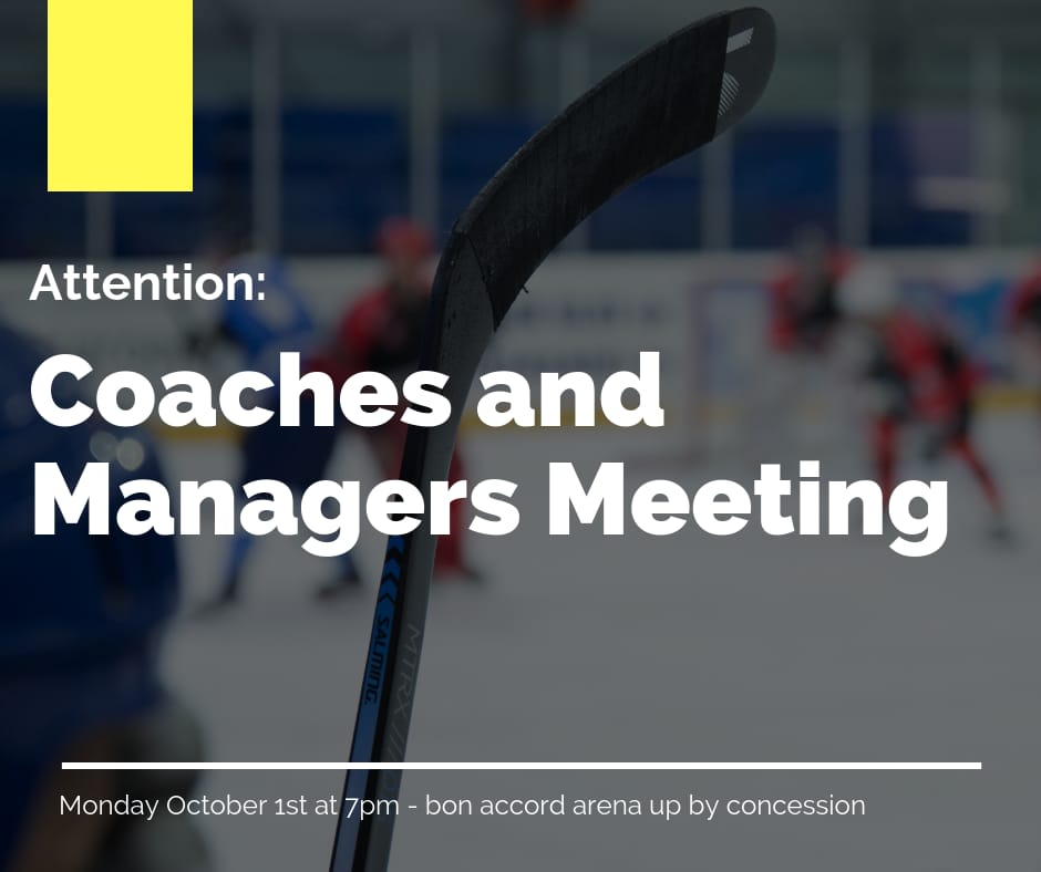 Coach and Manager Meeting