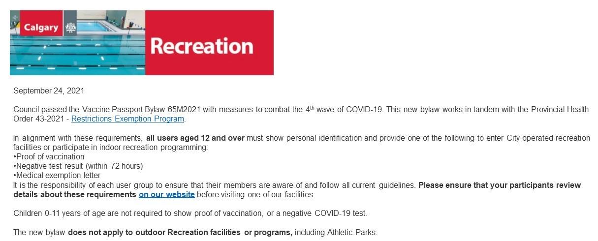 City Recreation Notice 2021.09.24
