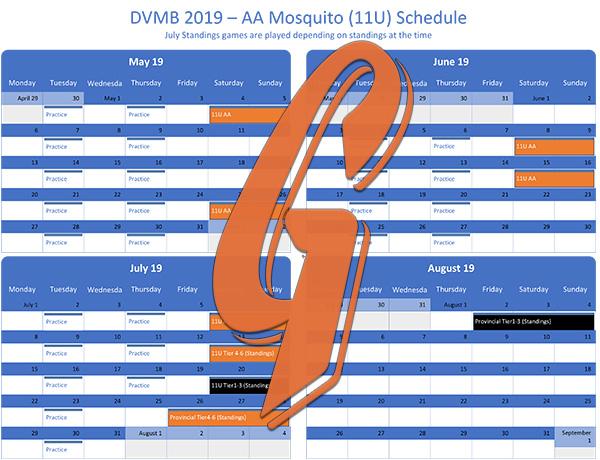 Mosquito AA Schedule