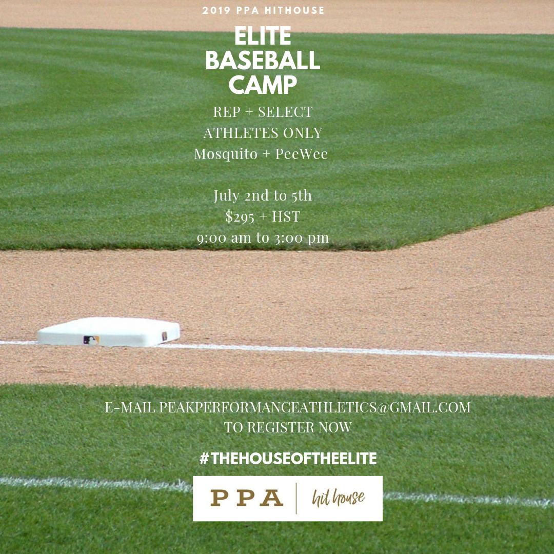 PPA Hithouse Elite Baseball Camp