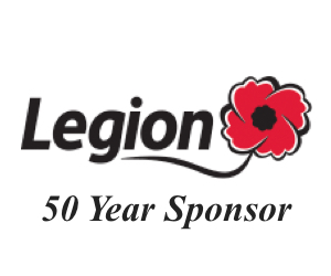 Royal Canadian Legion - Sponsor 50 years!