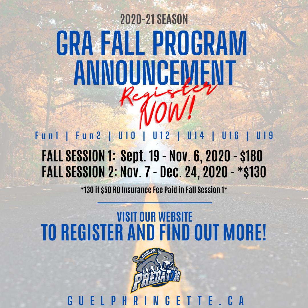 2020-21 Fall Program