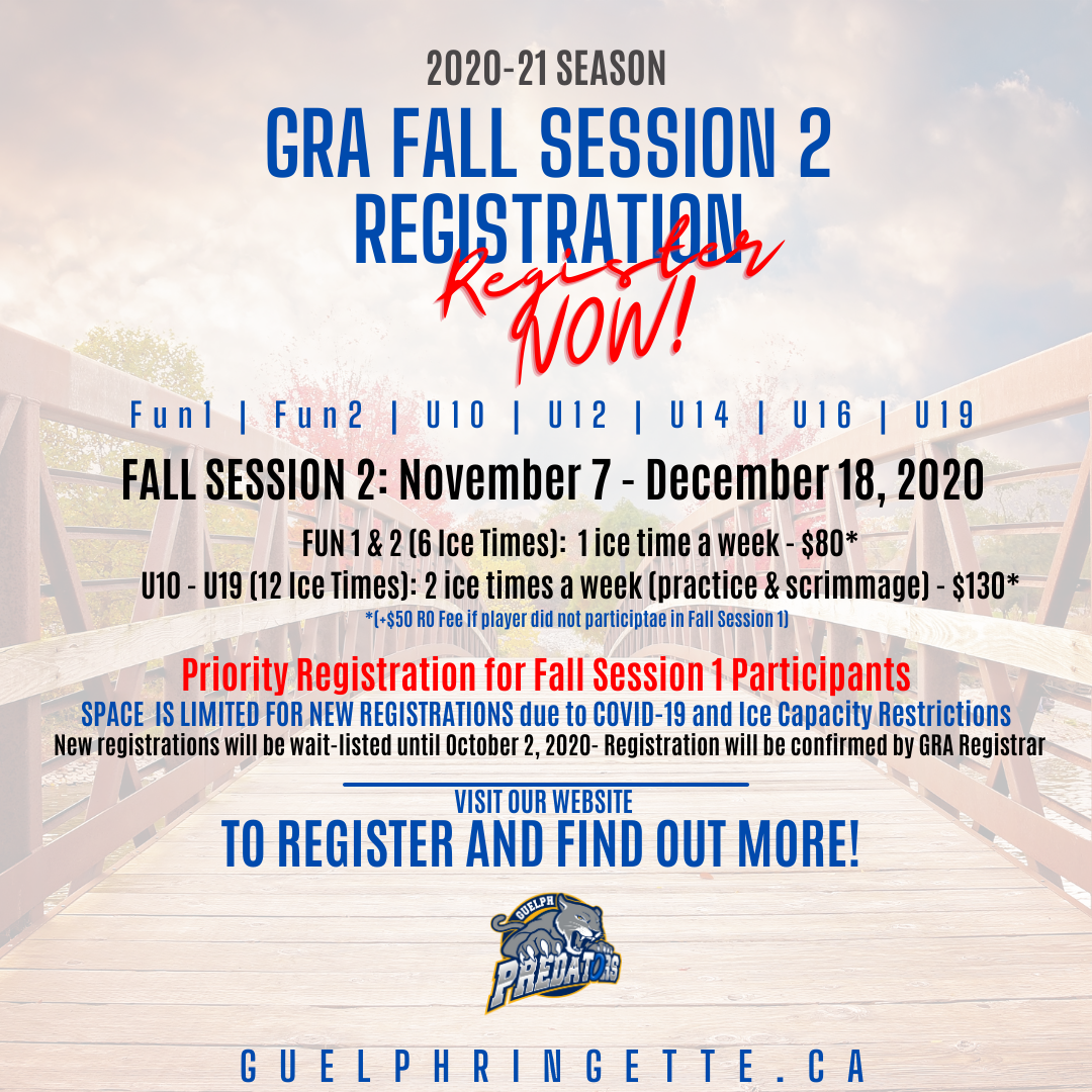 Fall Session 2 - Registration Open