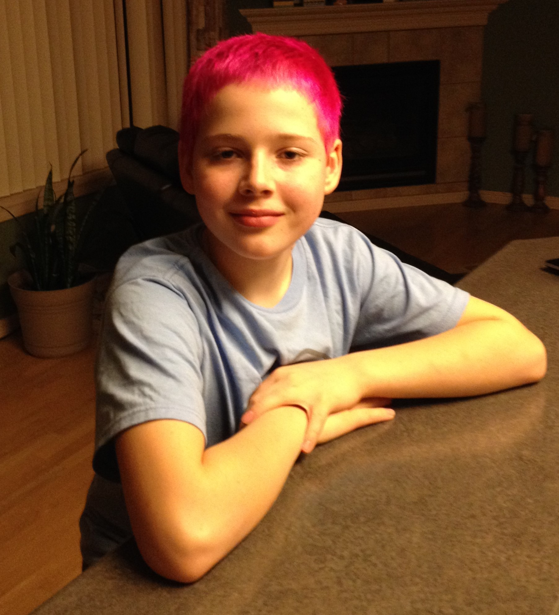 """Ryan prior to the """"Hair Massicure"""""""