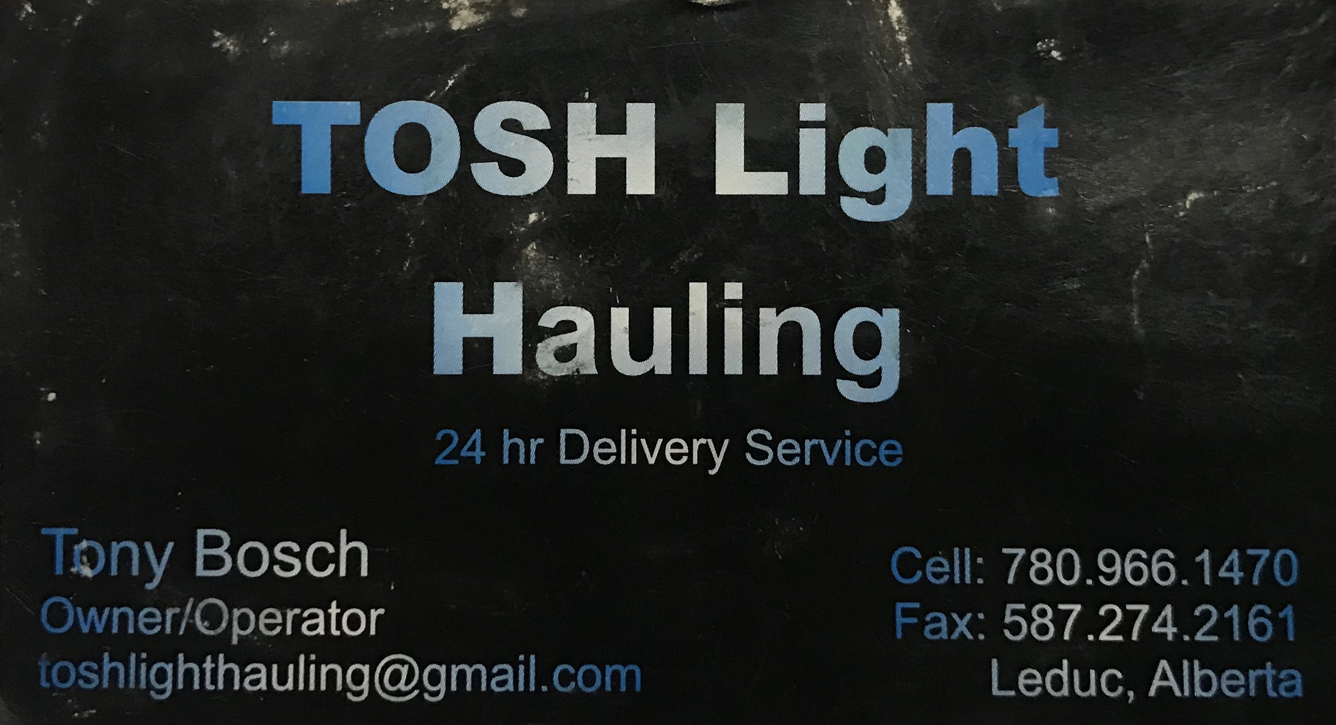 TOSH Light Hauling