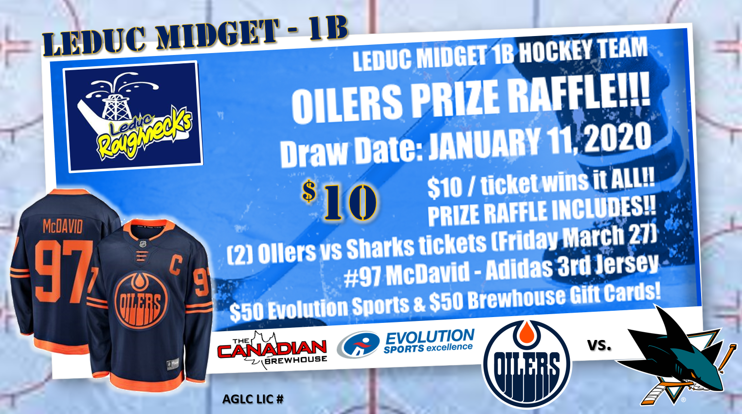 OILERS TICKET and JERSEY RAFFLE