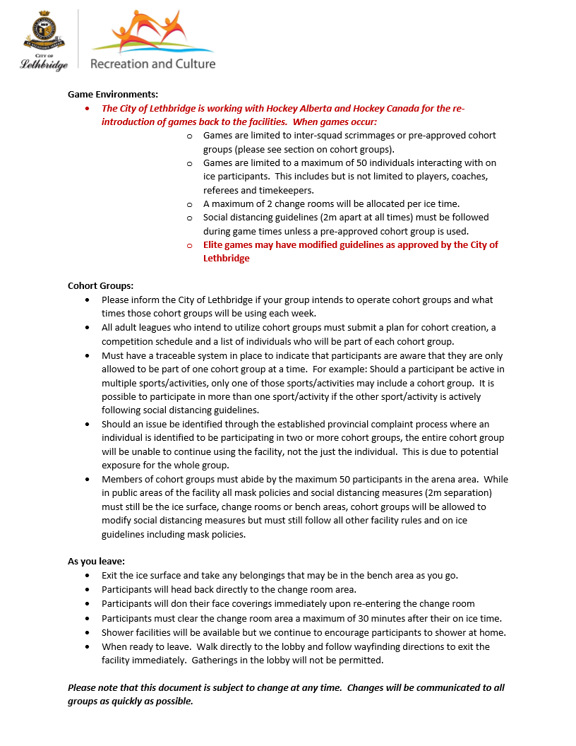 Arena Guidelines Page 3