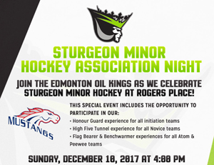 Sturgeon Minor Hockey Association Night