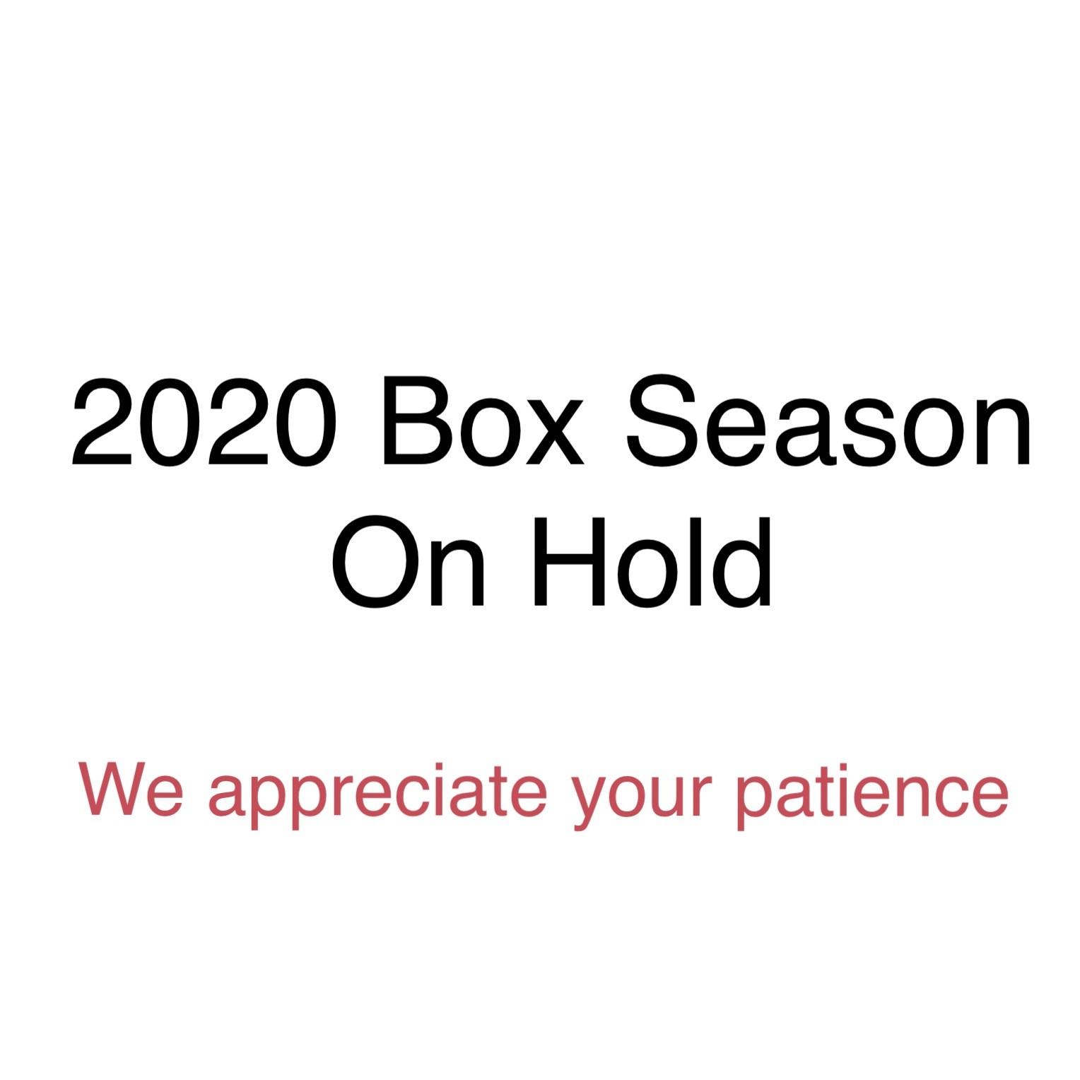 2020 Season ON HOLD