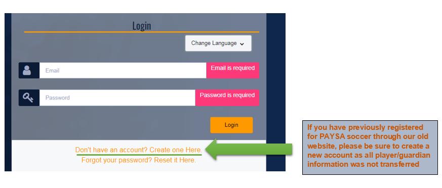 Registration Steps