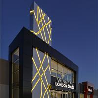 St Albert Centre Entrance at Night